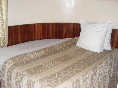 Custom-designed double bed for double rooms